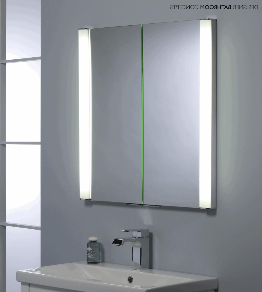Vanity mirrors have now become a 3-in-1 product; a large mirror, LED light, and medicine cabinet.